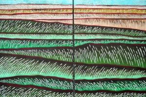 Grassland - 2015 - (Acrylic on canvas) - 2 panels - each - 23'' x 31''