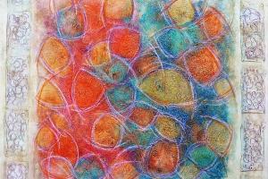 Lights - 2015 - (Mixed media Acrylic on canvas) - 36'' x 36'' x 1.5''