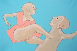 Through you - 2015 - (Acrylic on canvas) 31'' x 23''