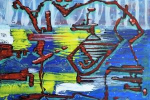 Abstract #33 - 2016 - (Mixed media Acrylic on canvas)