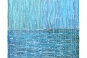 Blue - 2016 - (Mixed media on Canvas) 24'' x 36'' x 1.5''