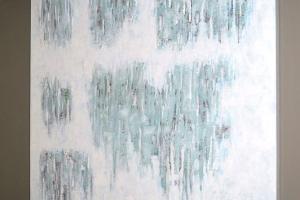 Ice - 2016 - (Mixed media Acrylic on canvas) - 36'' x 36'' x 1.5''