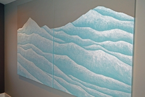 Moutains - 2016 - (Mixed media on Canvas) - 2 panels - 60'' x 48'' x 1.5'' SOLD Private Collection