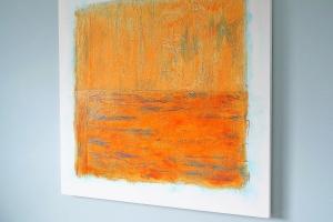 Orange crush - 2016 - (Mixed media on Canvas) 36'' x 36'' x 1.5''