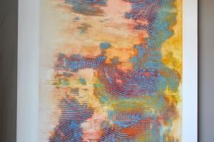 Untitled #23 - 2016 - (Mixed media Acrylic on canvas) - 60'' x 48'' x 1.5'' - 2 panels - 1 of 2