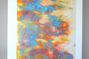 Untitled #24 - 2016 - (Mixed media Acrylic on canvas) - 60'' x 48'' x 1.5'' - 2 panels - 2 of 2