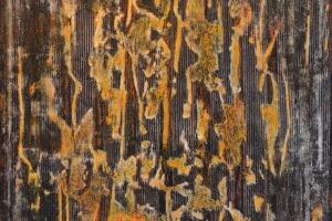 Untitled #8 - 2016 - (Mixed media Acrylic on canvas) - 36'' x 36'' x 1.5''