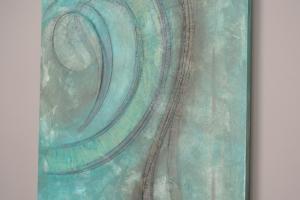 Wave - 2016 - (Mixed media Acrylic on canvas) - 48'' x 36'' x 1.5''