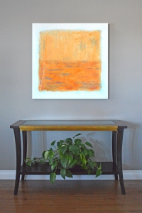Orange crush - 2016 - (Mixed media on Canvas) - 36'' x 36'' x 1.5''