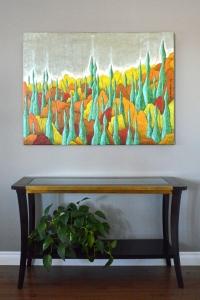 Spirit Trees - 2013 - (Mixed media on Canvas) - 48'' x 36' x 0.625''