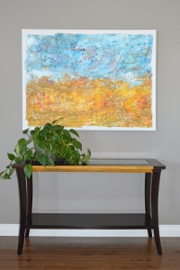 Alberta days - 2017 - (Mixed media on Canvas) - 48'' x 36'' x 1.5'' SOLD Private Collection